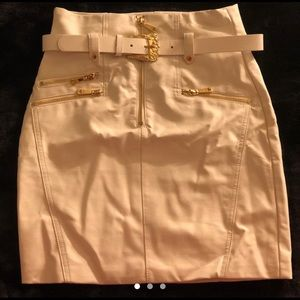 GUESS high-waisted faux-leather skirt